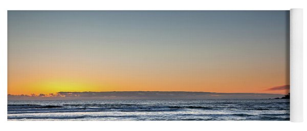 Colorful Sunset Over A Desserted Beach Yoga Mat