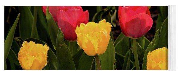 Colorful Tulips Yoga Mat