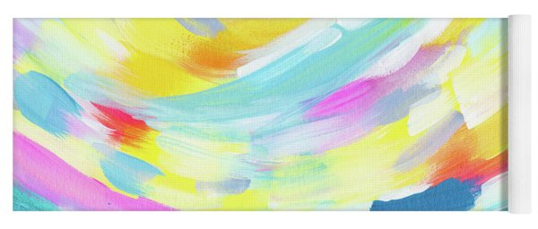 Colorful Uprising 4 - Abstract Art By Linda Woods Yoga Mat