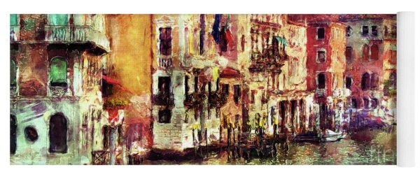 Colorful Venice Canal Yoga Mat