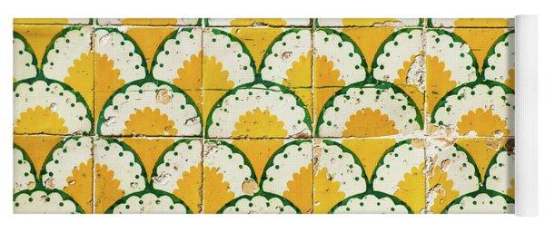 Colorful Vintage Portuguese Tiles Yoga Mat