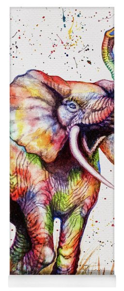Colorful Watercolor Elephant Yoga Mat
