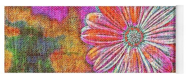 Colorful Watercolor Flower Yoga Mat