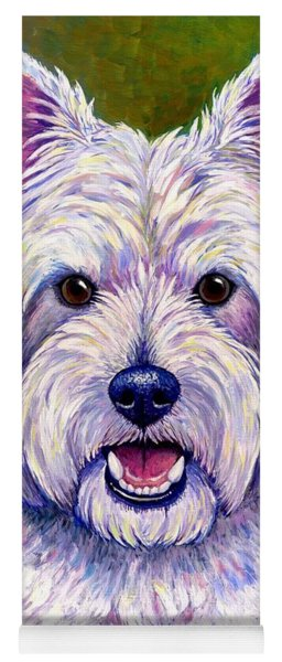 Colorful West Highland White Terrier Dog Yoga Mat