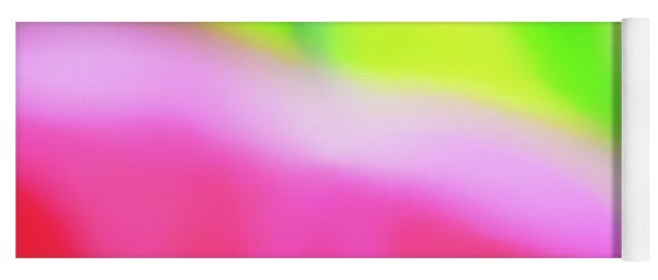Colors Of Spring Abstract Triptych Section 2 Yoga Mat