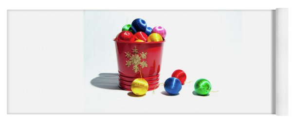 Coloured Baubles In A Pot Yoga Mat