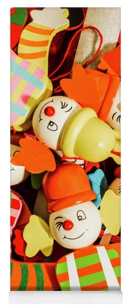 Colourful Character Clowns Yoga Mat