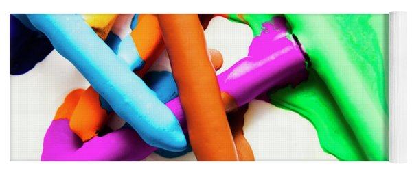 Colourful Crayon Art Yoga Mat