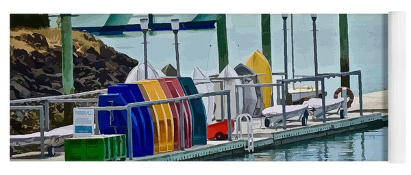 Colourful Dinghies Auckland Yoga Mat