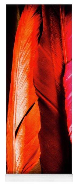 Colourful Feather Art Yoga Mat