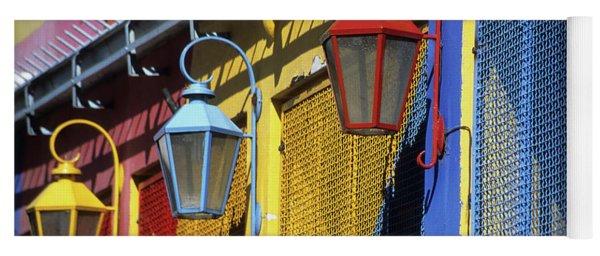 Colourful Lamps La Boca Buenos Aires Yoga Mat