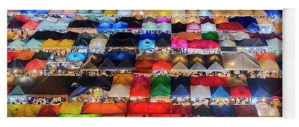 Colourful Night Market Yoga Mat