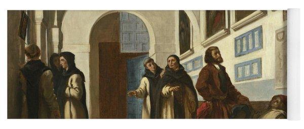 Columbus And His Son At La Rabida Yoga Mat