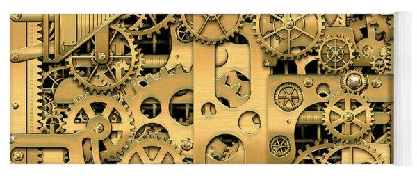 Complexity And Complications - Clockwork Gold Yoga Mat