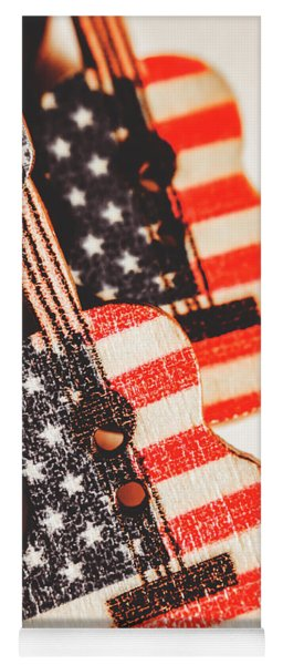 Concert Of Stars And Stripes Yoga Mat