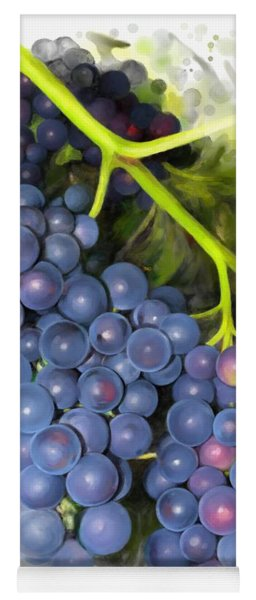 Yoga Mat featuring the painting Concord Grape by Ivana Westin