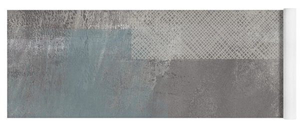 Concrete 3- Contemporary Abstract Art By Linda Woods Yoga Mat