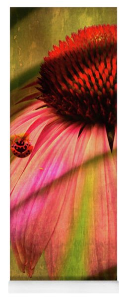 Cone Flower And The Ladybug Yoga Mat