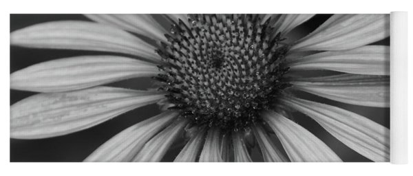 Coneflower In Black And White Yoga Mat