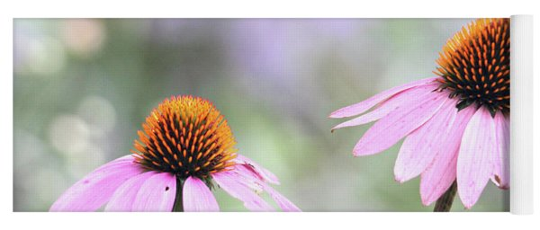 Yoga Mat featuring the photograph Coneflowers On A Summer Day by Trina Ansel