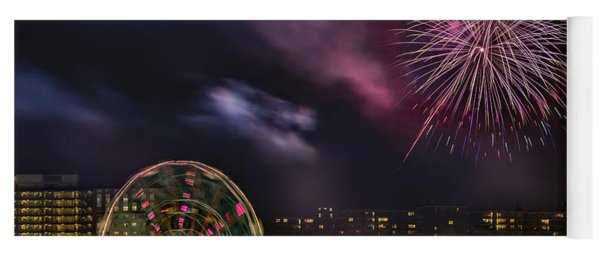Coney Island Fireworks Yoga Mat