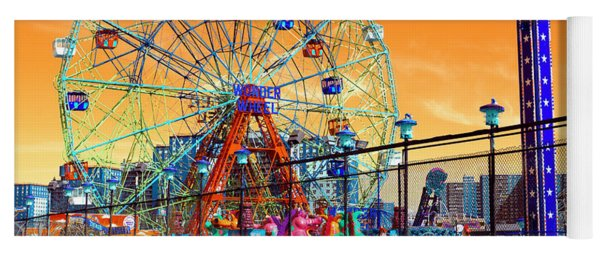 Coney Island Pop Art Yoga Mat