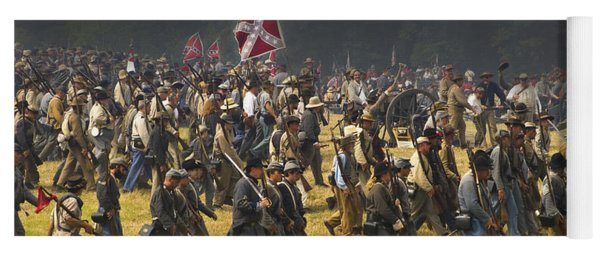 Confederate Charge At Gettysburg Yoga Mat