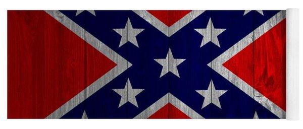 Confederate Flag Barn Door Yoga Mat