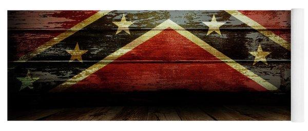 Confederate Flag On Wall Yoga Mat