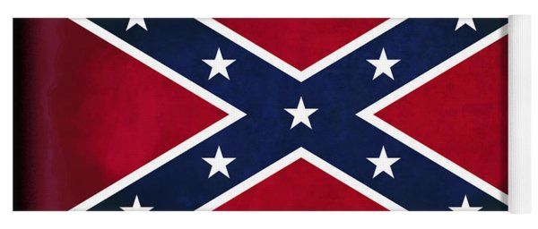 Confederate Rebel Battle Flag Yoga Mat