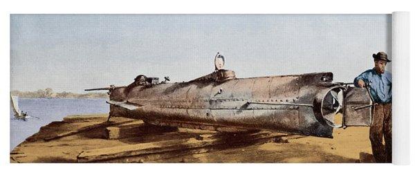 Confederate Submarine, Hunley Yoga Mat