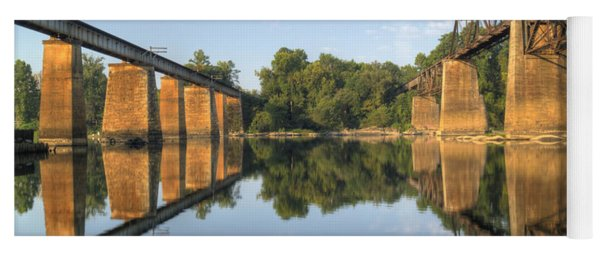 Congaree River Rr Trestles - 1 Yoga Mat