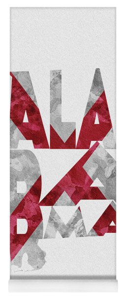 Alabama Typographic Map Flag Yoga Mat