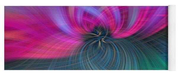 Consciousness. Pink Green Abstract Yoga Mat