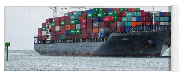 Container Ship Entering Durban Harbour Yoga Mat