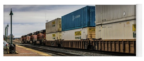 Container Train Yoga Mat
