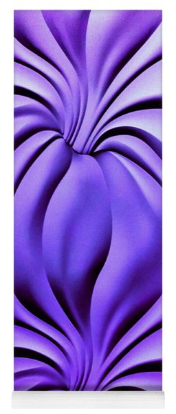 Contemplation In Purple Yoga Mat
