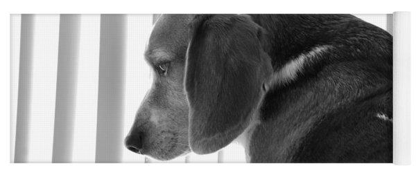 Contemplative Beagle Yoga Mat