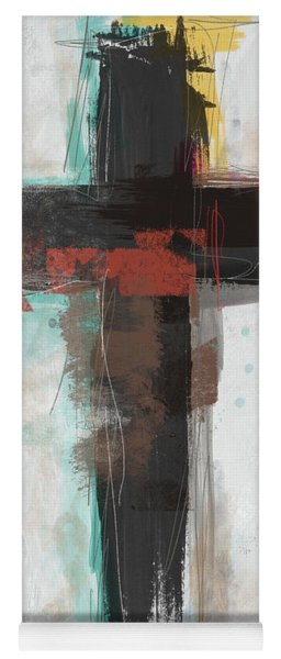 Contemporary Cross 1- Art By Linda Woods Yoga Mat