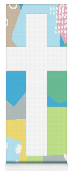 Contemporary Easter Cross- Art By Linda Woods Yoga Mat