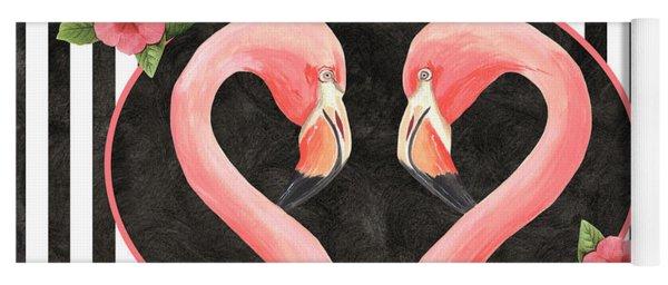 Contemporary Flamingos 1 Yoga Mat