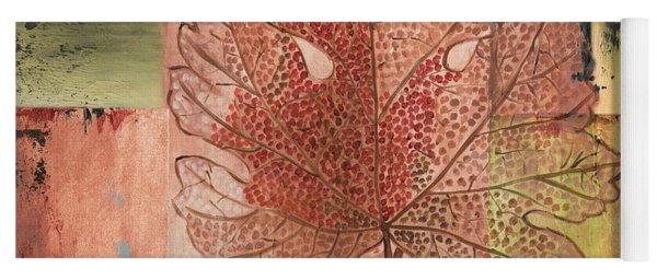 Contemporary Grape Leaf Yoga Mat