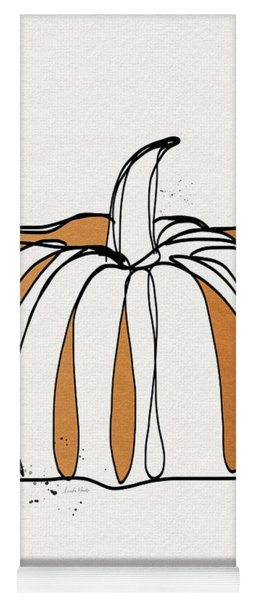 Contemporary Pumpkin- Art By Linda Woods Yoga Mat