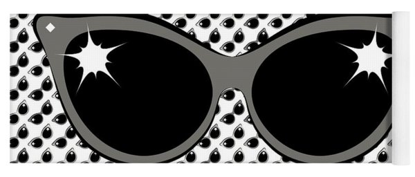 Cool 60's Sunglasses Grays Yoga Mat