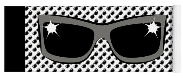 Cool 90's Sunglasses Grays Yoga Mat