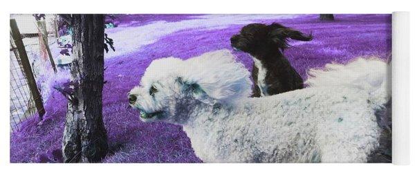 Cool Breeze In Violet Yoga Mat