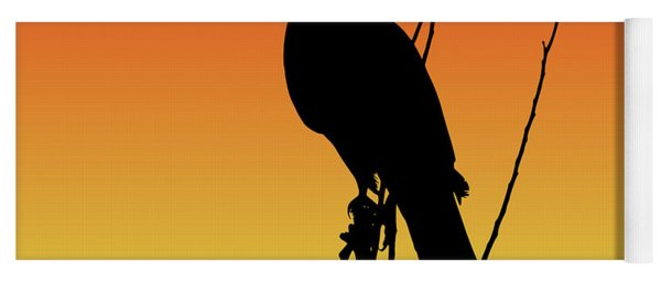 Coopers Hawk Silhouette At Sunset Yoga Mat