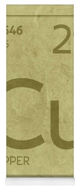 Periodic table yoga mats fine art america copper element symbol periodic table series 029 yoga mat urtaz Choice Image