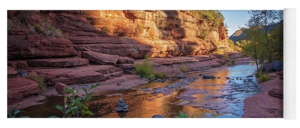 Yoga Mat featuring the photograph Copper Pools At Slide Rock State Park by Lynn Bauer