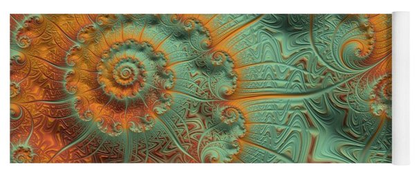 Copper Verdigris Yoga Mat